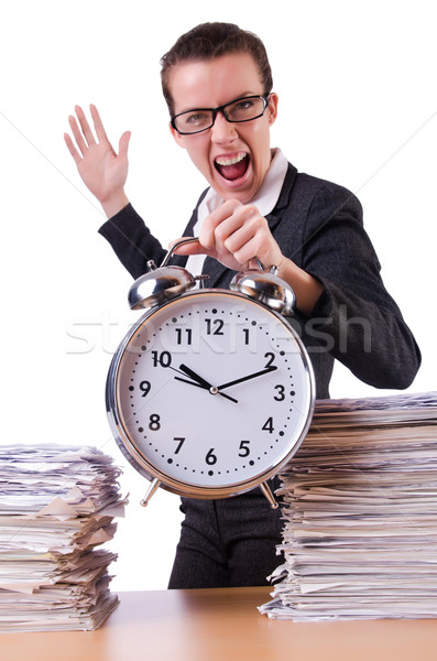Donna imprenditrice stress mancante scadenze clock Foto d'archivio © Elnur