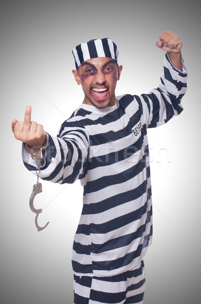 Prisioneiro algemas lei polícia justiça cadeia Foto stock © Elnur