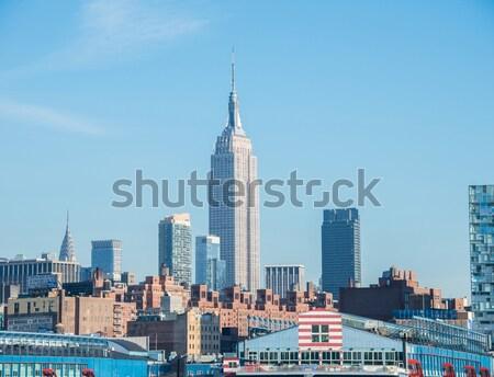 Panorama of downtown Manhattan Stock photo © Elnur