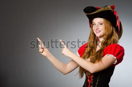 Vrouw piraat scherp mes hand mode Stockfoto © Elnur