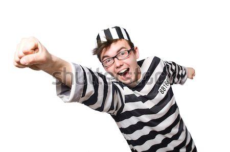 Elítélt bűnöző csíkos egyenruha biztonság törvény Stock fotó © Elnur