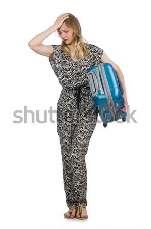 Persona bagaglio ragazza viaggio aeroporto Foto d'archivio © Elnur
