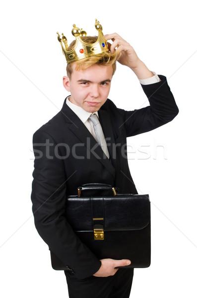 Króla biznesmen korony człowiek pracy wykonawczej Zdjęcia stock © Elnur
