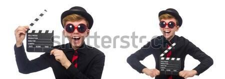 Gangster zakken geld helling man masker Stockfoto © Elnur