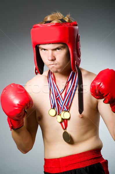 面白い ボクサー 受賞 金メダル 手 行使 ストックフォト © Elnur