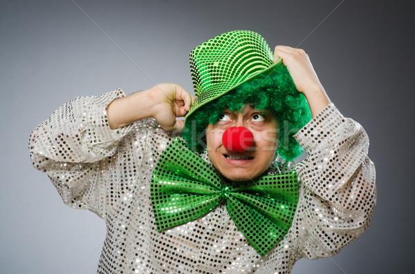 Divertente persona santo vacanze sorriso clown Foto d'archivio © Elnur