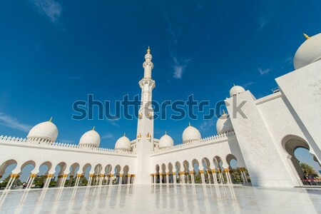 Mecset Abu Dhabi város terv Ázsia panoráma Stock fotó © Elnur