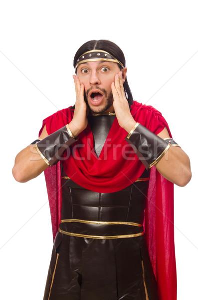 Gladiátor izolált fehér férfi háttér mozi Stock fotó © Elnur