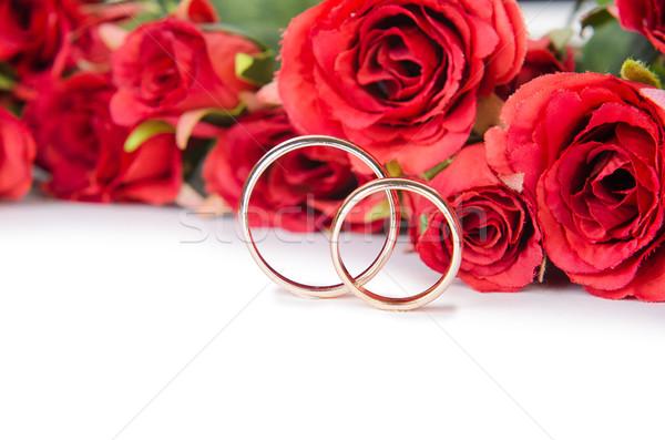 Alliances fleurs isolé blanche fleur mariage Photo stock © Elnur