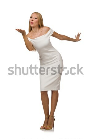 Young woman in elegant dress isolated on white Stock photo © Elnur