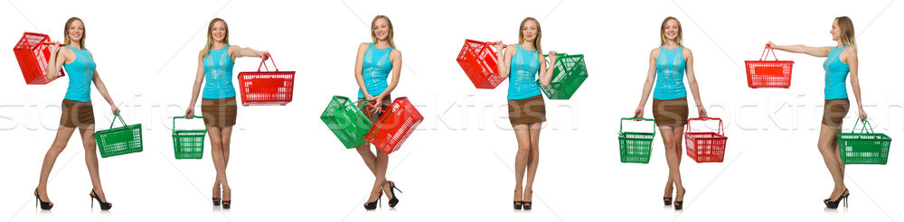 Composite photo of woman with shopping basket Stock photo © Elnur