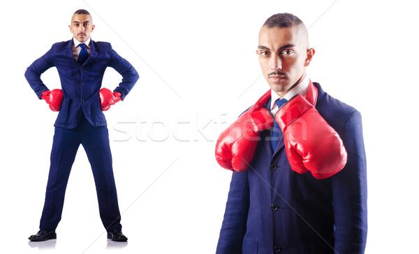 élégant affaires gants de boxe affaires sport exécutif Photo stock © Elnur