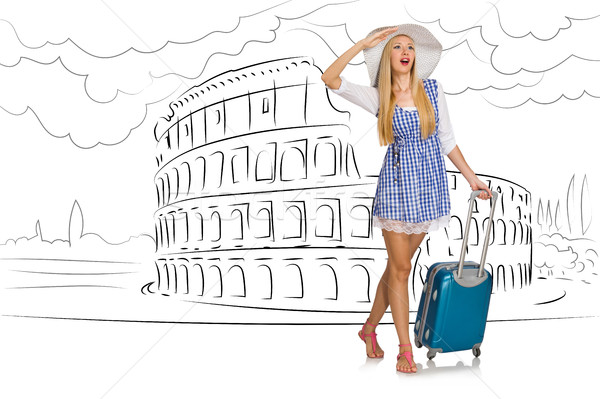 The young woman travelling to rome in italy Stock photo © Elnur