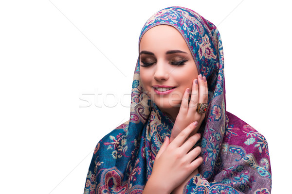 The woman in traditional muslim cover with ring Stock photo © Elnur