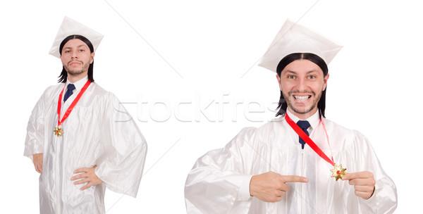 молодым человеком готовый университета окончания бумаги студент Сток-фото © Elnur