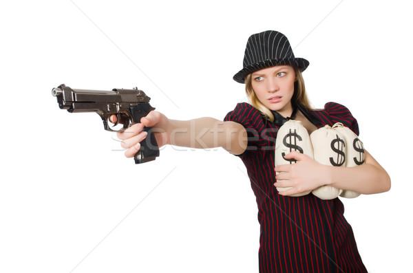 Mulher dinheiro branco negócio menina segurança Foto stock © Elnur