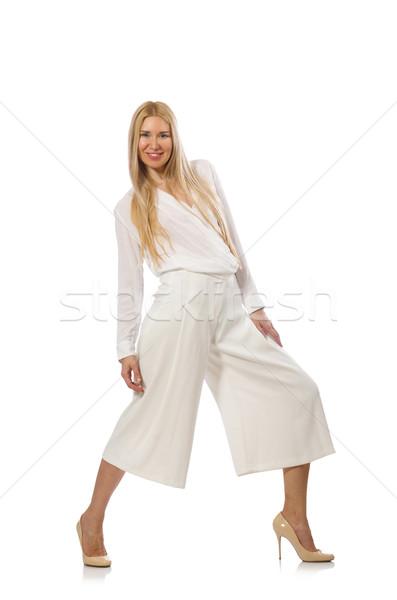 Blond cheveux modèle élégante pants isolé Photo stock © Elnur