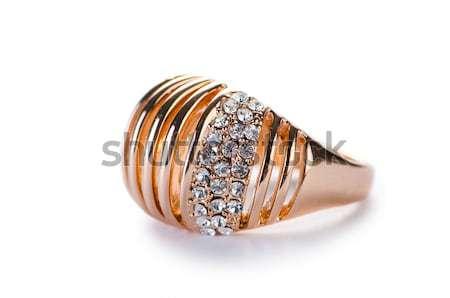 ювелирных кольца изолированный белый цепь Diamond Сток-фото © Elnur