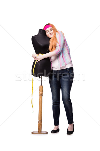 Funny tailor isolated on the white background Stock photo © Elnur