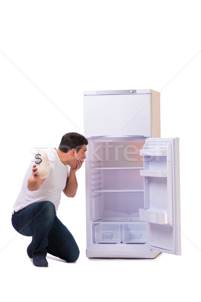 The hungry man looking for money to fill the fridge Stock photo © Elnur