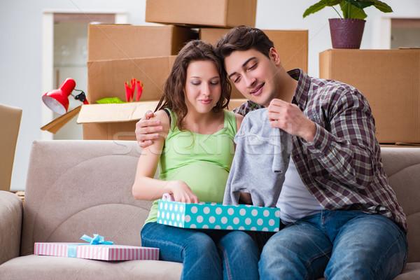 Hombre embarazadas esposa mujer feliz Foto stock © Elnur