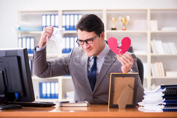 Işadamı aziz valentine ofis iş kadın Stok fotoğraf © Elnur