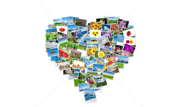 Heart shape made of nature photos Stock photo © Elnur