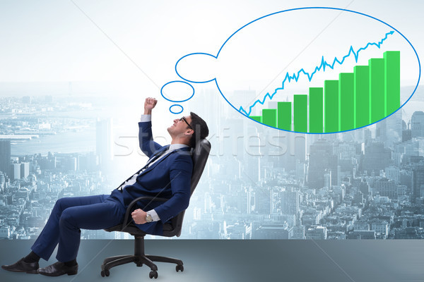 Biznesmen gospodarki rynku wzrostu Zdjęcia stock © Elnur