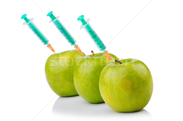 Kísérlet alma kezek természet gyümölcs egészség Stock fotó © Elnur