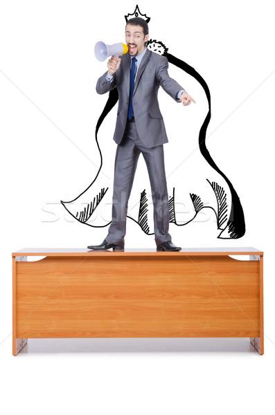 Empresario altavoz escritorio negocios oficina hombre Foto stock © Elnur