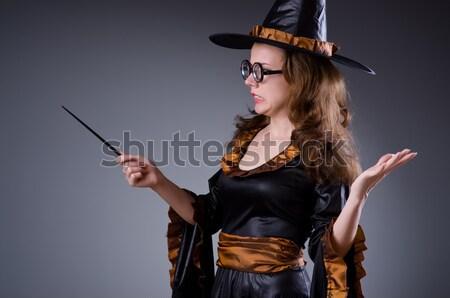 Kobieta pirackich odizolowany biały pistolet miecz Zdjęcia stock © Elnur