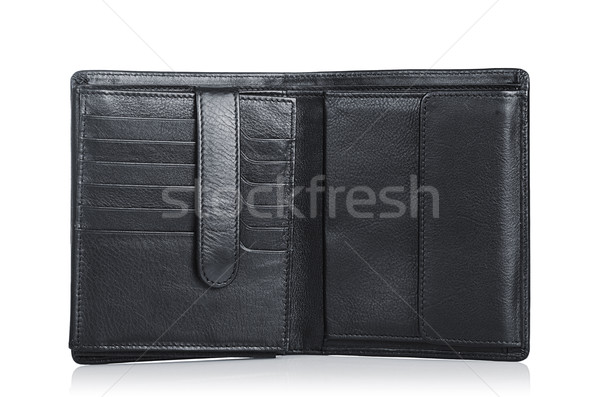 Leather wallet isolated on the white Stock photo © Elnur