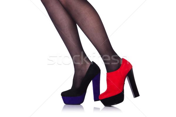 Vrouw benen geïsoleerd witte meisje mode Stockfoto © Elnur