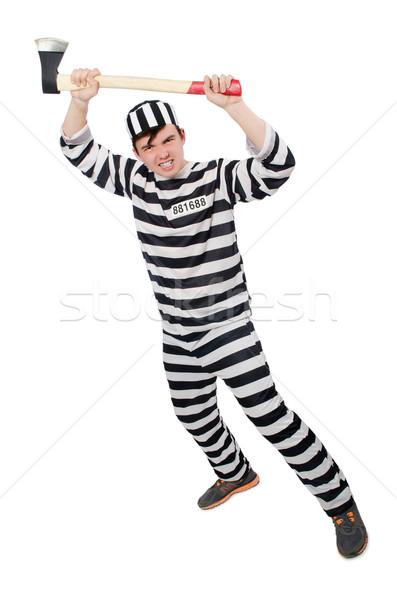 Komik hapis tutuklu hukuk eğlence polis Stok fotoğraf © Elnur