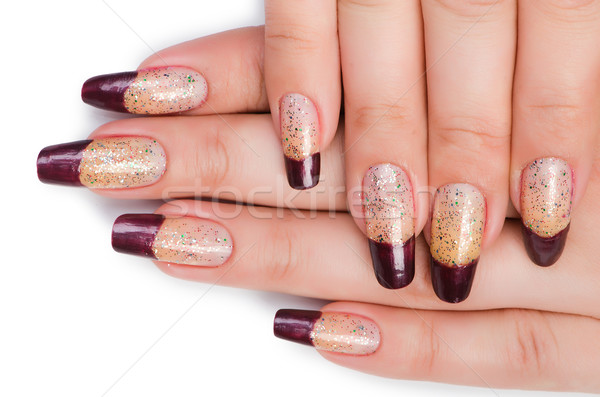 Fashion concept with nail art Stock photo © Elnur