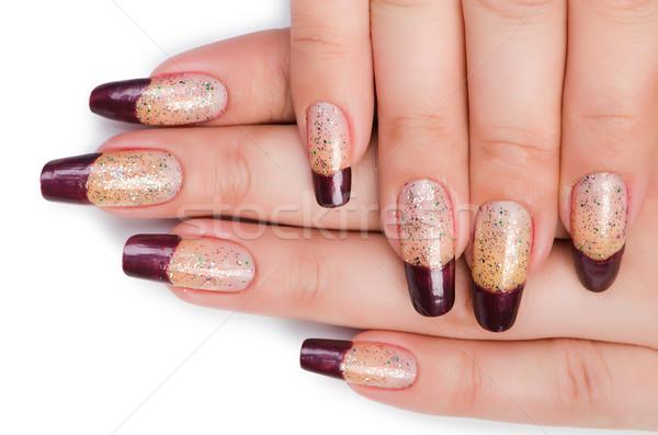 Fashion concept with nail art Stock photo © Elnur