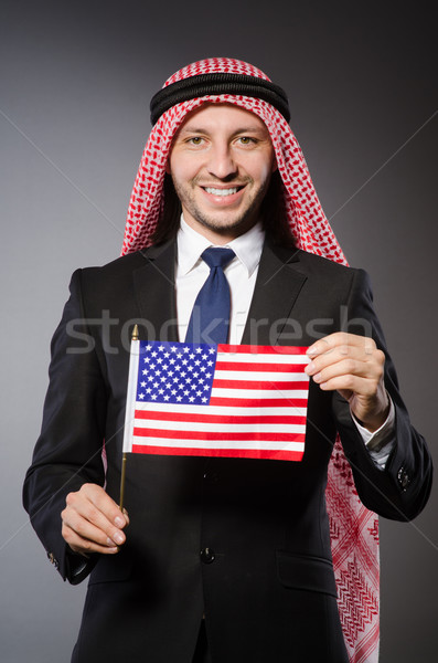 Diversity concept with young arab Stock photo © Elnur