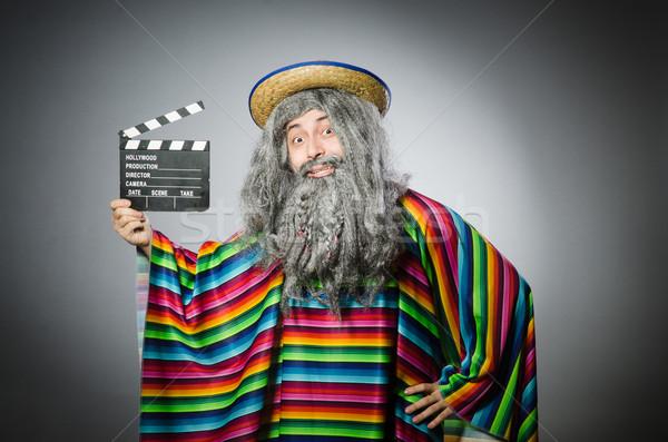 Vicces szőrös mexikói film arc mozi Stock fotó © Elnur