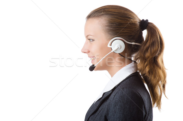 Stock photo: Pretty office manager isolated on white