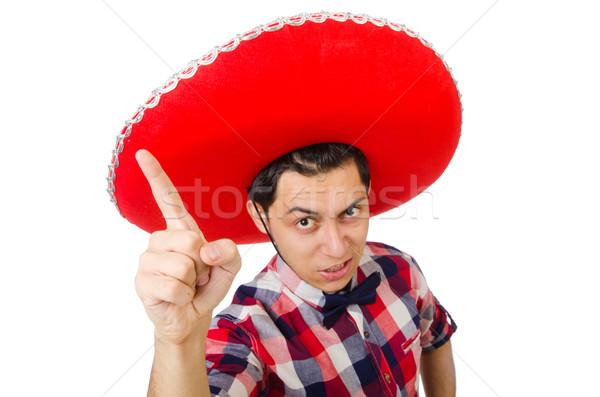 Engraçado mexicano sombrero homem felicidade roupa Foto stock © Elnur