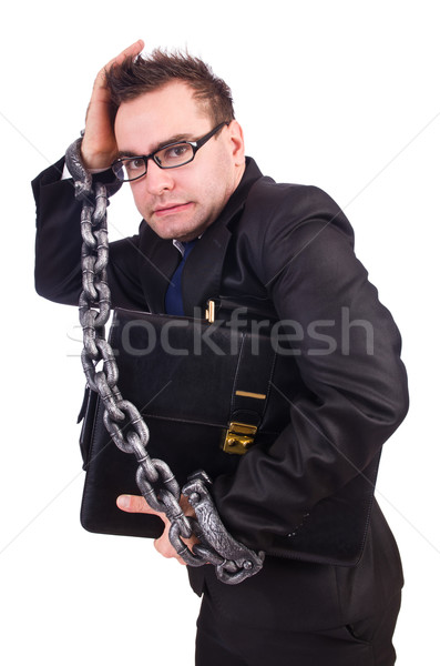 Businessman with chain isolated on the white Stock photo © Elnur