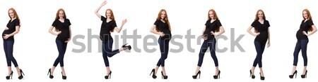 Kadın bacaklar yalıtılmış beyaz moda siyah Stok fotoğraf © Elnur