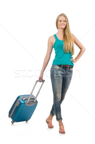 путешествия отпуск Камера белый женщину девушки Сток-фото © Elnur