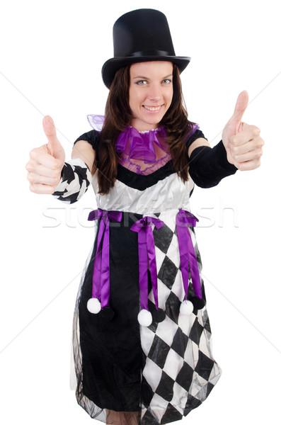 довольно девушки костюм изолированный белый женщину Сток-фото © Elnur
