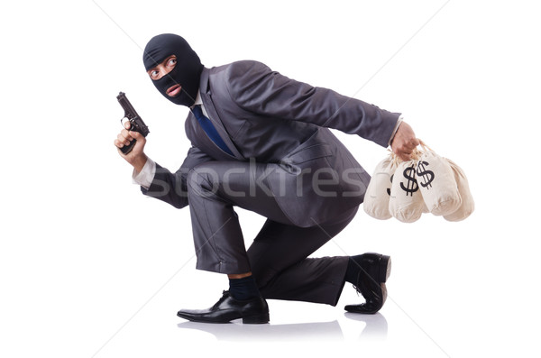 Criminal man isolated on the white Stock photo © Elnur