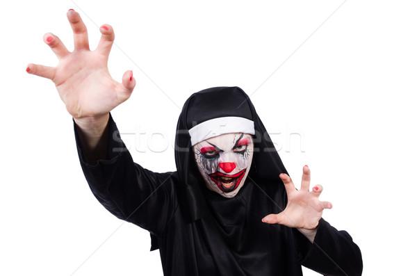 Ijesztő apáca halloween lány halál sötét Stock fotó © Elnur