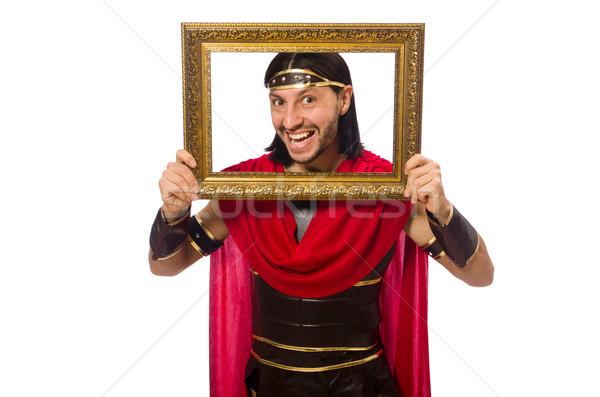 Gladiator fotolijstje geïsoleerd witte man Stockfoto © Elnur