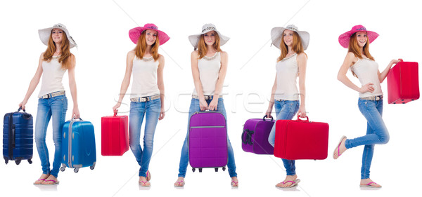 Set of photos with woman travelling Stock photo © Elnur