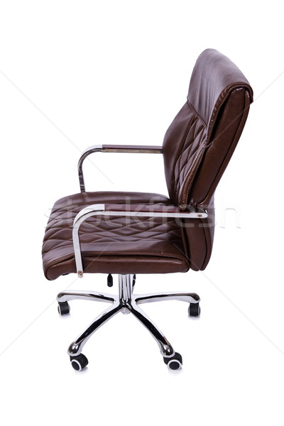 The brown leather office chair isolated on white Stock photo © Elnur
