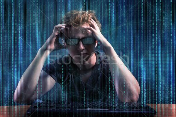 小さな ハッカー デジタル セキュリティ インターネット ネットワーク ストックフォト © Elnur